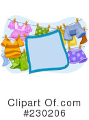 Royalty-Free (RF) Laundry Clipart Illustration #230206