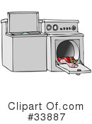 Royalty-Free (RF) Laundry Clipart Illustration #33887