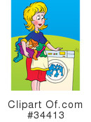 Royalty-Free (RF) Laundry Clipart Illustration #34413