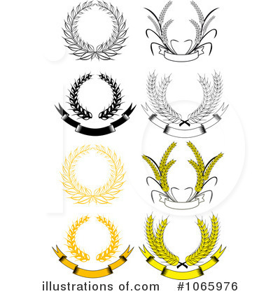 Laurel Wreath Clipart #1065976 by Vector Tradition SM