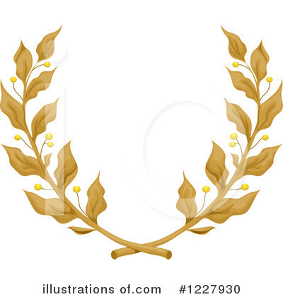 Royalty-Free (RF) Laurel Wreath Clipart Illustration by BNP Design Studio - Stock Sample #1227930