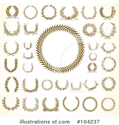 Laurel Wreath Clipart #104237 by BestVector