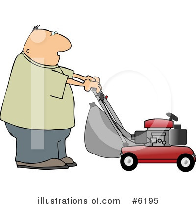 Lawn Mower Clipart #6195 by djart