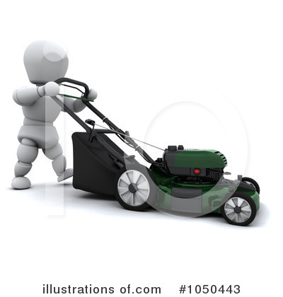 Lawn Mower Clipart #1050443 by KJ Pargeter | Royalty-Free (RF) Stock ...