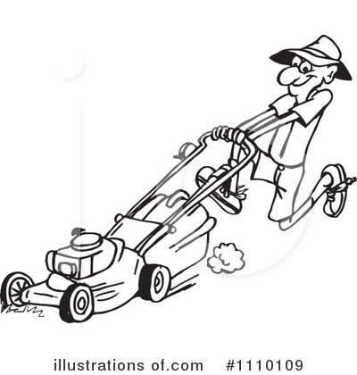 Lawn Mower Clipart Black And White Royalty-free (rf) lawn mower