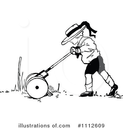 Royalty-Free (RF) Lawn Mower Clipart Illustration by Prawny Vintage - Stock Sample #1112609