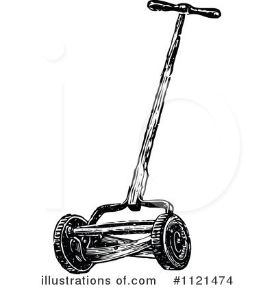 Lawn Mower Clipart #1121474 by Prawny Vintage