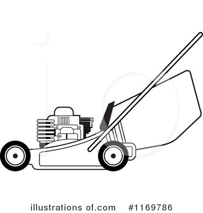 Lawn Mower Clipart #1169786 - Illustration by Lal Perera