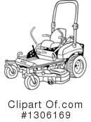 Lawn Mower Clipart #1306169 by LaffToon