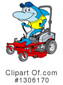 Lawn Mower Clipart #1306170 by LaffToon