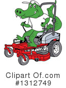 Lawn Mower Clipart #1312749 by LaffToon
