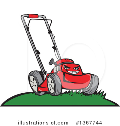 Lawn Mower Clipart #1367744 by patrimonio
