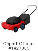 Lawn Mower Clipart #1427309 by Graphics RF