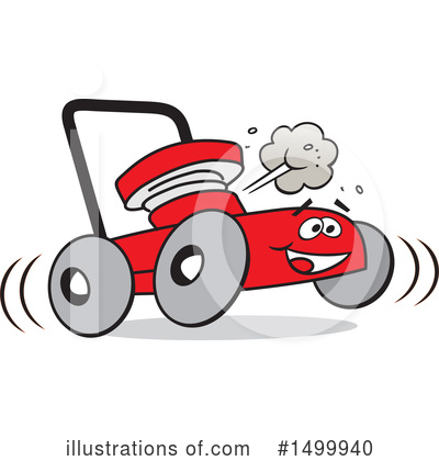 Royalty-Free (RF) Lawn Mower Clipart Illustration by Johnny Sajem - Stock Sample #1499940
