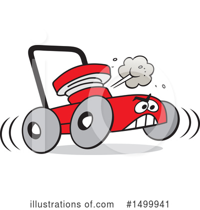 Lawn Mower Clipart #1499941 by Johnny Sajem