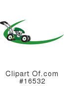 Lawn Mower Clipart #16532 by Toons4Biz