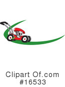 Lawn Mower Clipart #16533 by Toons4Biz