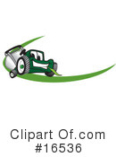 Lawn Mower Clipart #16536 by Toons4Biz