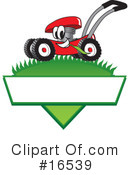 Lawn Mower Clipart #16539 by Toons4Biz