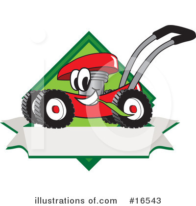 Royalty-Free (RF) Lawn Mower Clipart Illustration by Toons4Biz - Stock Sample #16543