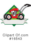 Lawn Mower Clipart #16543 by Toons4Biz