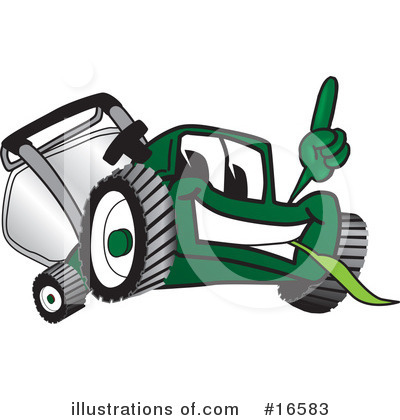 Lawn Mower Clipart #16583 by Toons4Biz