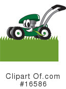 Royalty-Free (RF) lawn mower Clipart Illustration #16586