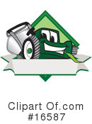 Royalty-Free (RF) lawn mower Clipart Illustration #16587