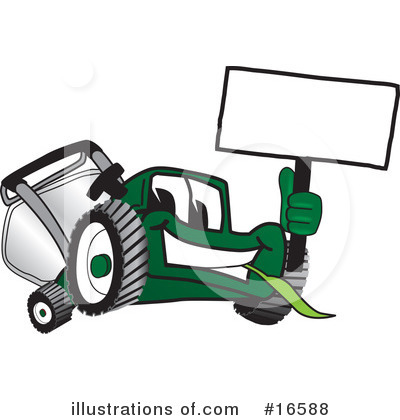 Lawn Mower Clipart #16588 by Toons4Biz