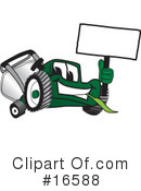 Royalty-Free (RF) lawn mower Clipart Illustration #16588