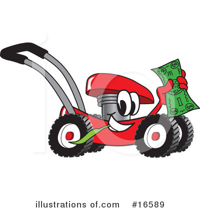 Lawn Mower Clipart #16589 by Toons4Biz