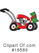 Royalty-Free (RF) lawn mower Clipart Illustration #16589