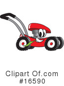 Royalty-Free (RF) lawn mower Clipart Illustration #16590
