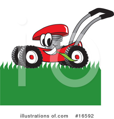 Lawn Mower Clipart #16592 by Toons4Biz