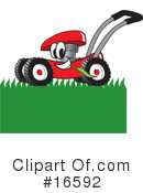Royalty-Free (RF) lawn mower Clipart Illustration #16592