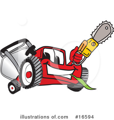 Royalty-Free (RF) Lawn Mower Clipart Illustration by Toons4Biz - Stock Sample #16594