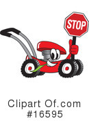 Royalty-Free (RF) lawn mower Clipart Illustration #16595