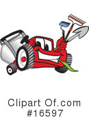 Lawn Mower Clipart #16597 by Toons4Biz