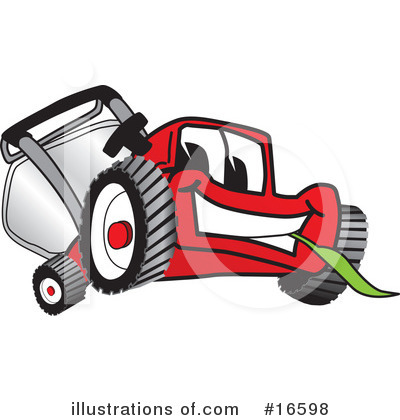 Lawn Mower Clipart #16598 by Toons4Biz