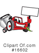 Royalty-Free (RF) lawn mower Clipart Illustration #16602