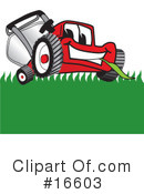 Lawn Mower Clipart #16603 by Toons4Biz