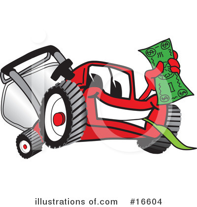 Lawn Mower Clipart #16604 by Toons4Biz