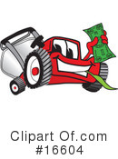 Royalty-Free (RF) lawn mower Clipart Illustration #16604