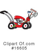 Royalty-Free (RF) lawn mower Clipart Illustration #16605