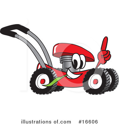 Lawn Mower Clipart #16606 by Toons4Biz