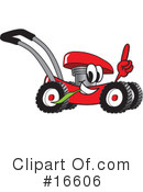 Royalty-Free (RF) lawn mower Clipart Illustration #16606