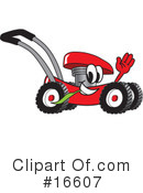 Royalty-Free (RF) lawn mower Clipart Illustration #16607