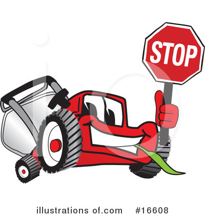 Lawn Mower Clipart #16608 by Toons4Biz