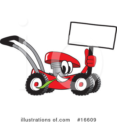 Lawn Mower Clipart #16609 by Toons4Biz
