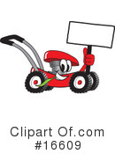Royalty-Free (RF) lawn mower Clipart Illustration #16609